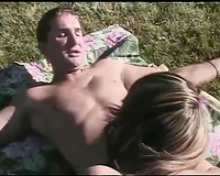 Awesome sex in the park with hawt and hawt babe with big a-hole