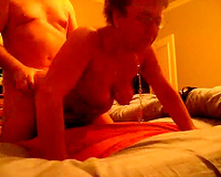 Chubby grandma pounded hard doggy style in advance of that babe meets God