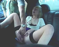 Just my fetish with my dark brown girlfriend in my car