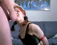 Red haired white wife acquires spanked and enjoyed engulfing a delightsome ramrod