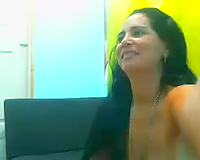 Zealous dilettante Colombian web webcam wench was doing some anal