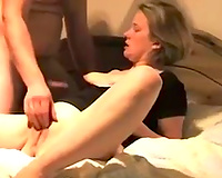 Kinky emotional blond sucked and wanked jock of her buddy to win fingerfuck