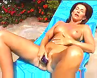 Redhead neighbour doxy white women plays with marital-device and blows me outdoors
