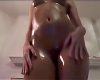 I cover my great wazoo with oil and ride a vibrator in my sexy solo