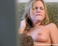 Short haired auburn honey Tina acquires fur pie licked and gives BF oral sex
