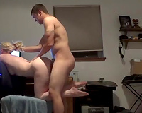 Slim golden-haired beauty acquires pushed well in doggy style with my hard penis