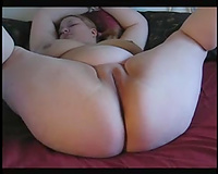 Horny fat wench plays with one as well as the other holes using new toys