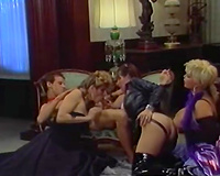 Cum-addicted nymphos with tasty love muffins take part in a trio