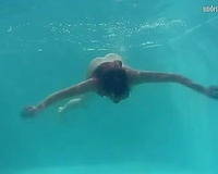 Mesmerizing redhead teenie from Russian Federation shows her body