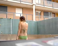 Pallid and quite buxom dilettante blonde BBC slut masturbated her juicy slit