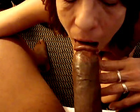 Mature redhead milf was not refusing a large dark wang