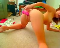 Ardent pleasant dilettante livecam black cock sluts with hawt slender legs was teasing her wet crack
