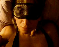 Wearing sleeping mask dark brown mother I'd like to fuck with large scones masturbated her fur pie