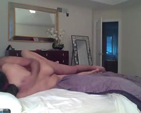 Turned on non-professional Indian spouse spoons titties and eats muff of his hotwife