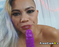 Huge Fake Tits Asian Squirts on Playing her Pussy
