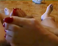 Footjob compilation from our intimate home collection