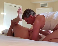 Almost destructive missionary fuck with a nice-looking bootyful mother I'd like to fuck