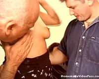 Sassy and enchanting brunette milf Angelina is given to 2 dudes