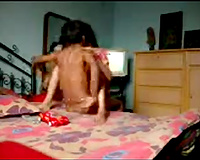 Cute Indian youthful girlfriend blows and rides her boyfriend