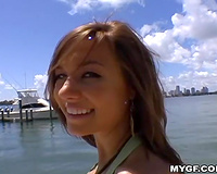 Exclusive dilettante summer bimbo spending valuable time with her boyfriend