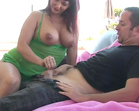 Majestic redhead curvy milf in the most good way of seduction