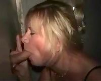 Cheap lustful golden-haired older floozy was blowing rod throughout a brilliance aperture