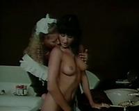 Slutty and whorish house maid seduces gorgeous dark brown