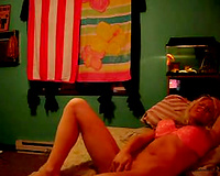 Skanky and sexually excited blond black cock sluts in pink underware on web camera