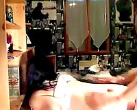 Hot like fire web camera brunette nympho with precious rounded butt is drilled doggy