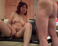 Mature dark brown Japanese horny white wife drilled in doggy style
