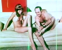 Sweet hippie chick with bushy slit copulates in front of her ally