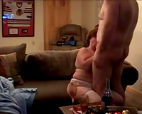 My beautiful obese housewife sucks my hard dick with great excitement