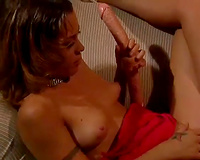Busty dark brown mother I'd like to fuck shares double ended marital-device with her girlfriend