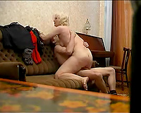 Mature blond brick abode mom from Russian Federation rides me