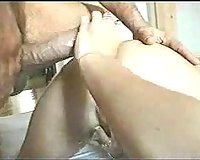 Extreme anal three-some with my breasty GF and her ribald ally