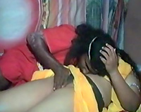 My fat and cute Indian chick rides me on top with her large gazoo