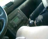 Sexy Asian street hooker blowing penis in my car on web camera