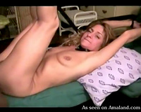 Kinky light haired white mother I'd like to fuck is tied up and analfucked by dark fellow