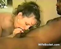 Handsome dark dude feeds white girlfriend of a cuckoo