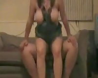 Homemade clip of me and my black cock sluts having sex on ottoman