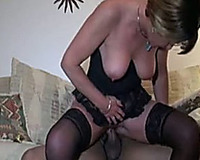 My milf slutty wife eagerly lets this dark man gape her chocolate hole