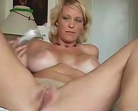 Happy massive breasted blond slutwife of my buddy knows how to have enjoyment