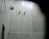 Hidden camera episode of my voluptuous Peruvian dirty slut wife taking shower
