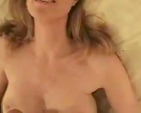 Luxurious blond prostitute stroked my dick and drank my cream