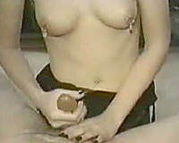 Dick milking procedures with my bold spouse on camera