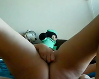 Watch my recent livecam GF smashing her bawdy cleft with a toy