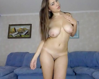 All nude web camera beauty with sexy big boobies was tickling her moist vagina