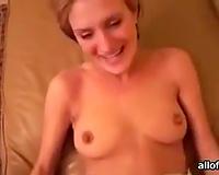 Hot non-professional sex clip with playful girlfriend engulfing schlong