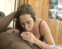 Brunette Teen Sucks her First Black Dick