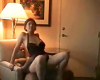 Stunning mother I'd like to fuck riding hard 10-Pounder in a cowgirl position